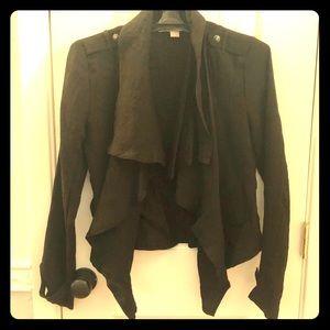 Black Cascading Blazer